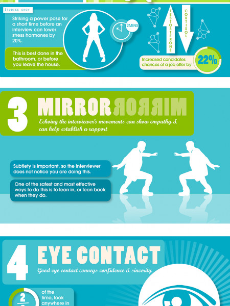 6 Body Language Tips For Your Next Interview Infographic