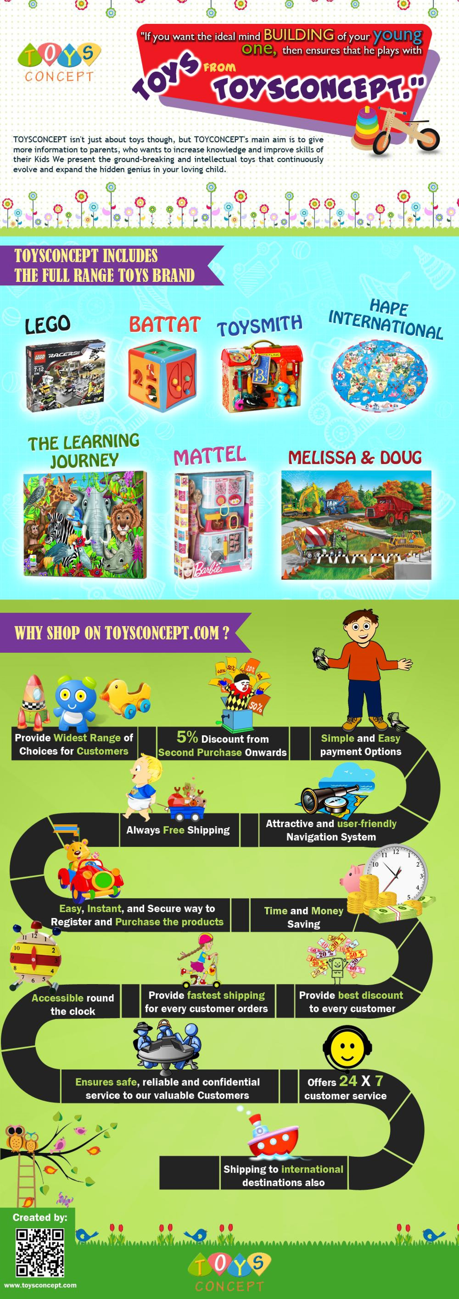 Infographic : Why Shop On Toysconcept.com Infographic