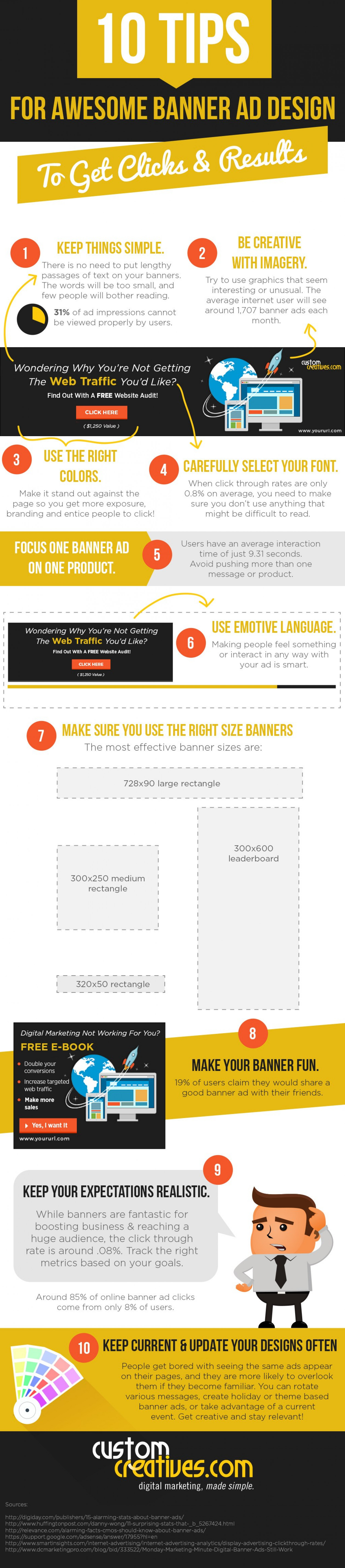 INFOGRAPHIC: 10 Tips for Awesome Banner Ad Design to Get Clicks & Results Infographic