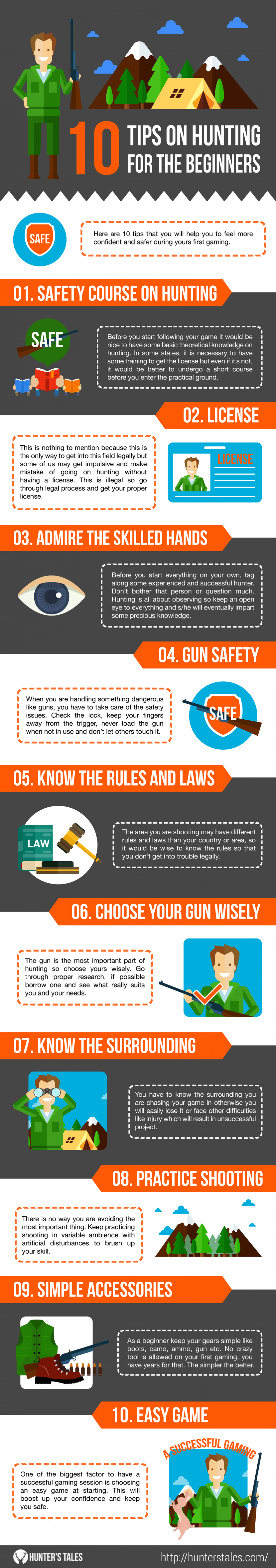[Infographic] 10 Tips for Beginners to Start Hunting Infographic