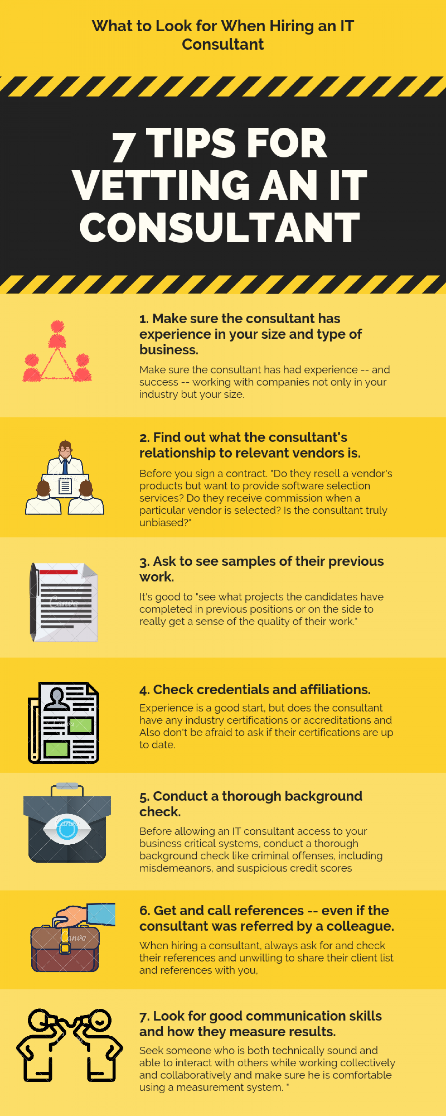 Info-graphic of IT Consulting Services Infographic
