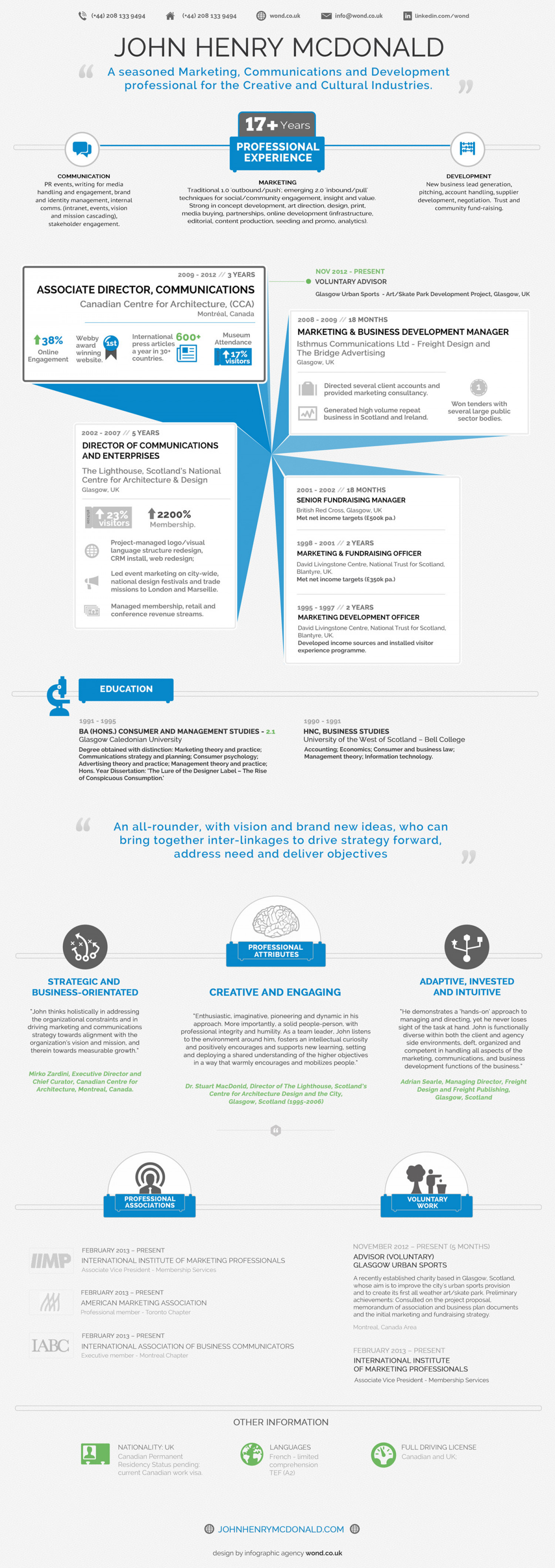 Infographic Resume Template  Classic Corporate  VisualLy