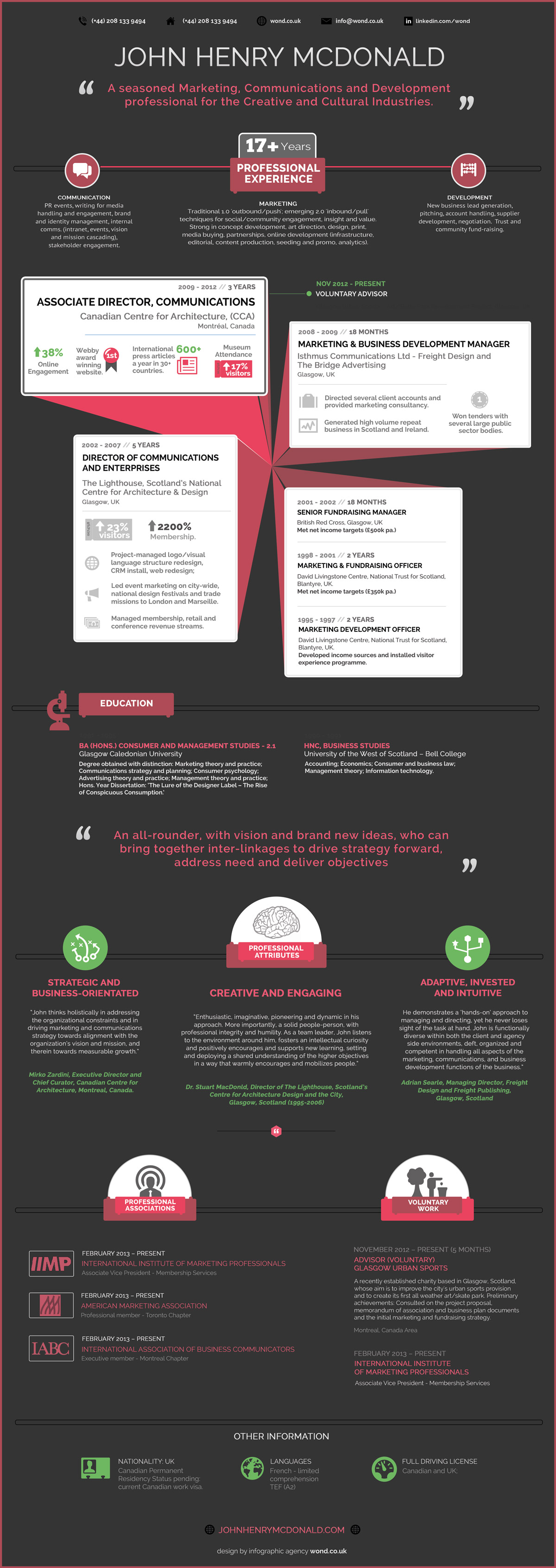 infographic resume template visually