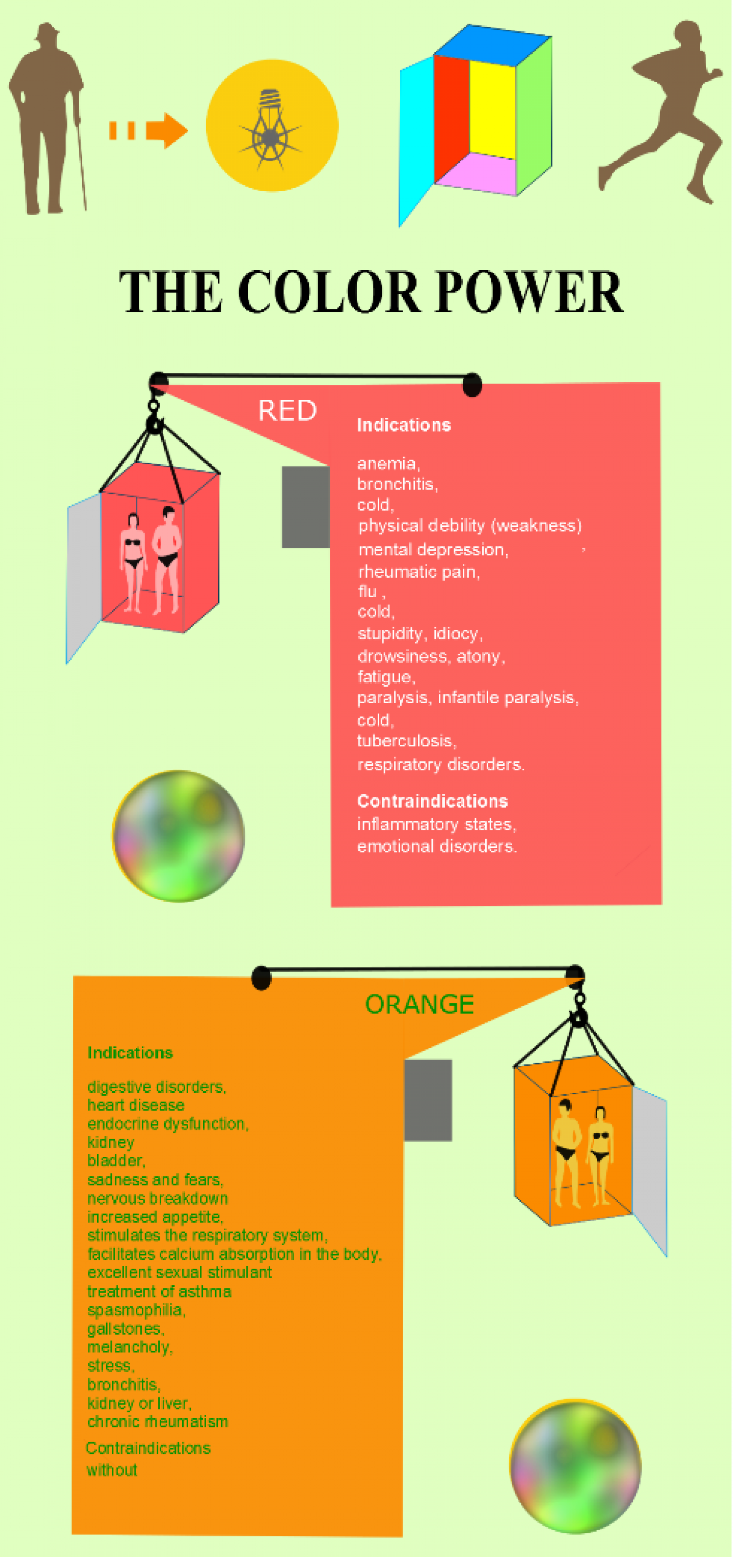 "INFOGRAPHIC ""THE COLOR POWER"" Infographic"
