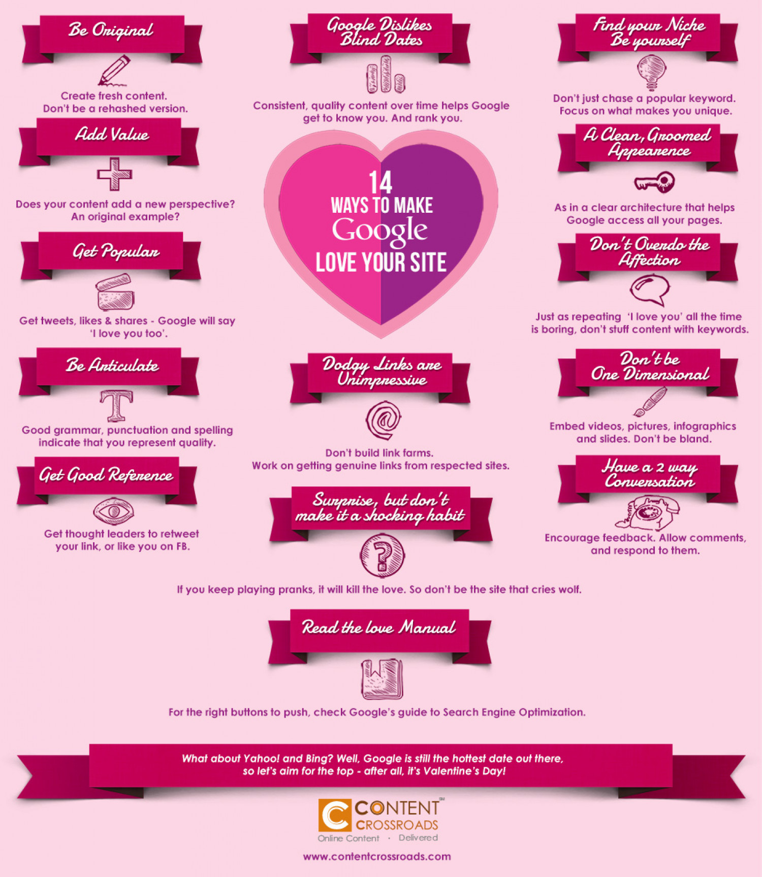 14 Ways to Make Google Love Your Site Infographic