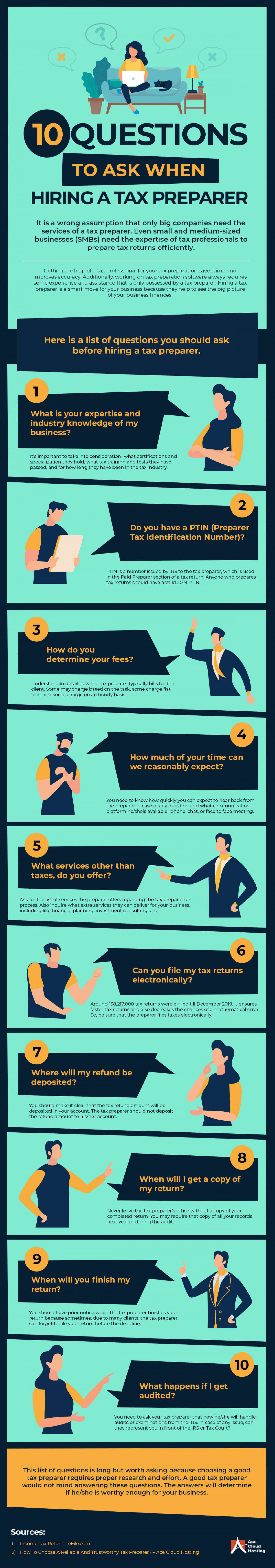 Infographic Top Question You Should Ask Before Hiring a Tax Preparer  Infographic
