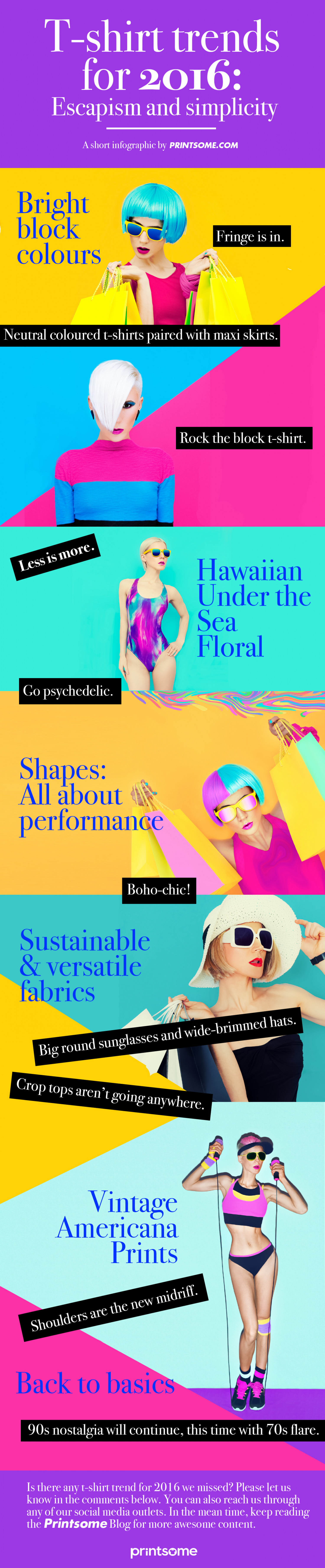 [INFOGRAPHIC] T-shirt Trends for 2016: Escapism and Simplicity Infographic