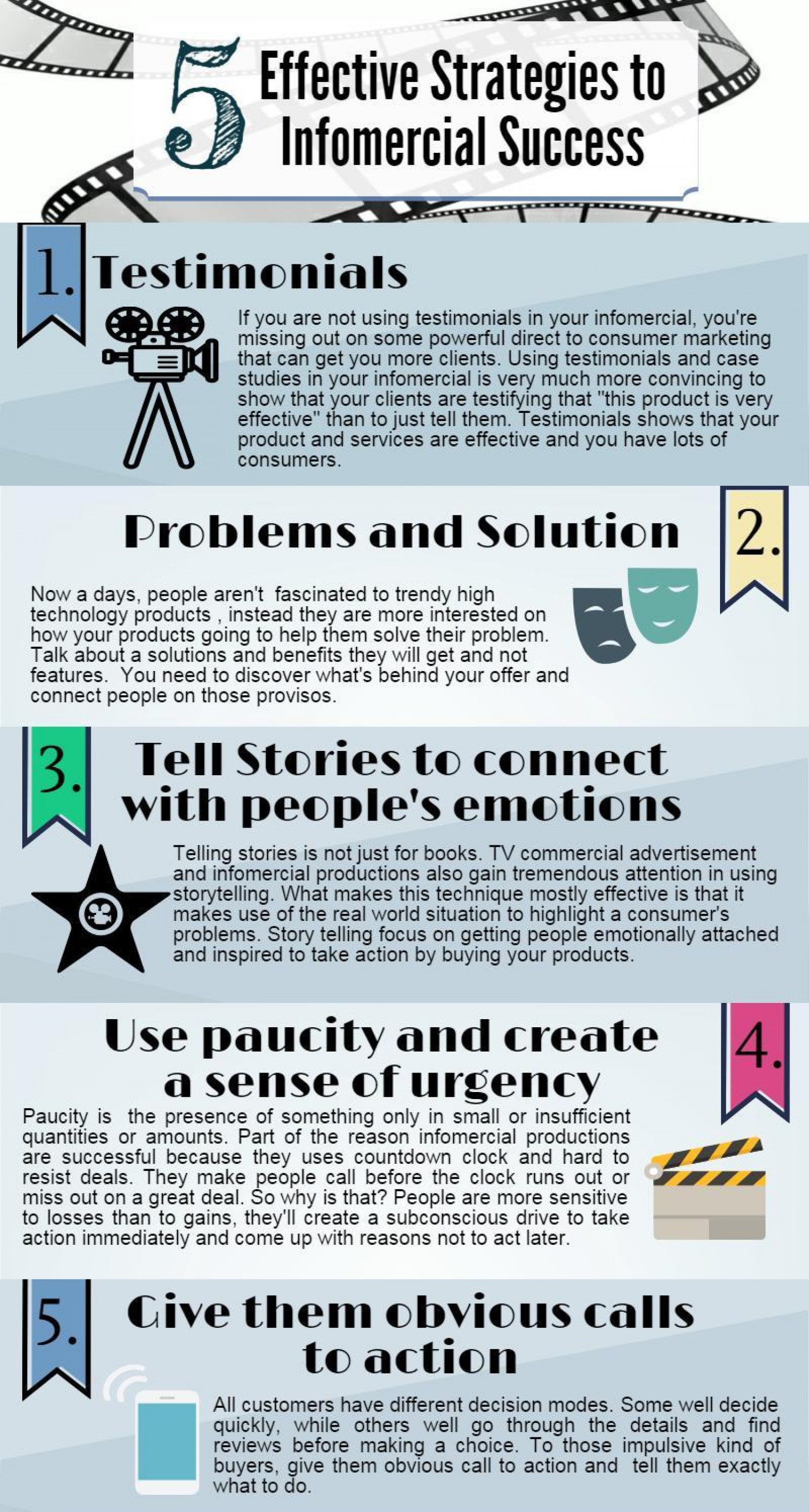 Infographic/5 Effective Strategies to Infomercial Success | Visual.ly