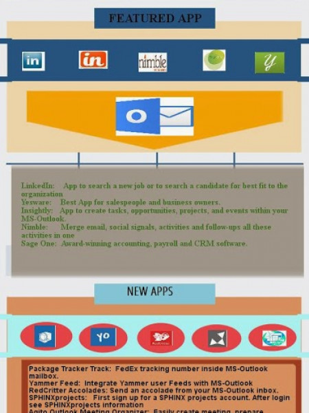 Infographics – MS Outlook 2013 Apps  Infographic