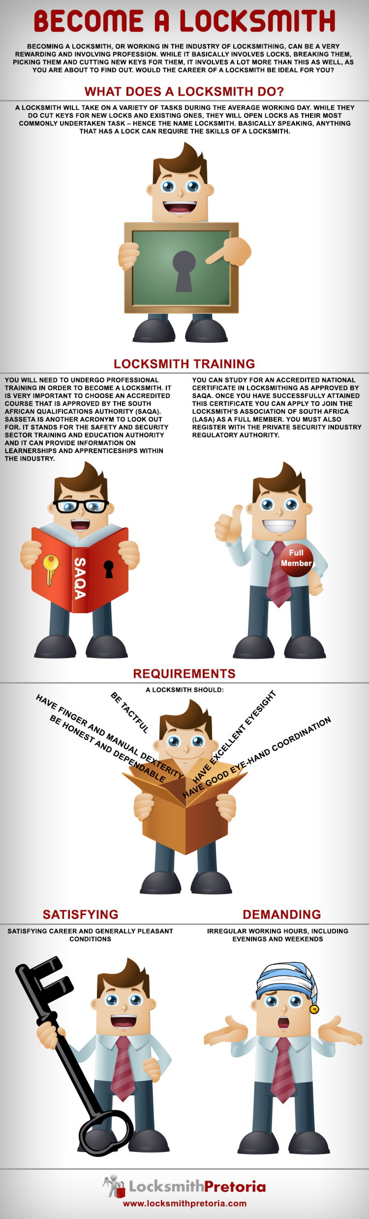 Information on how to become a Master Locksmith in South Africa Infographic
