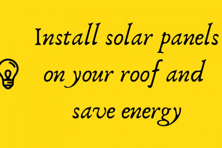 Install solar panels on your roof and save energy Infographic