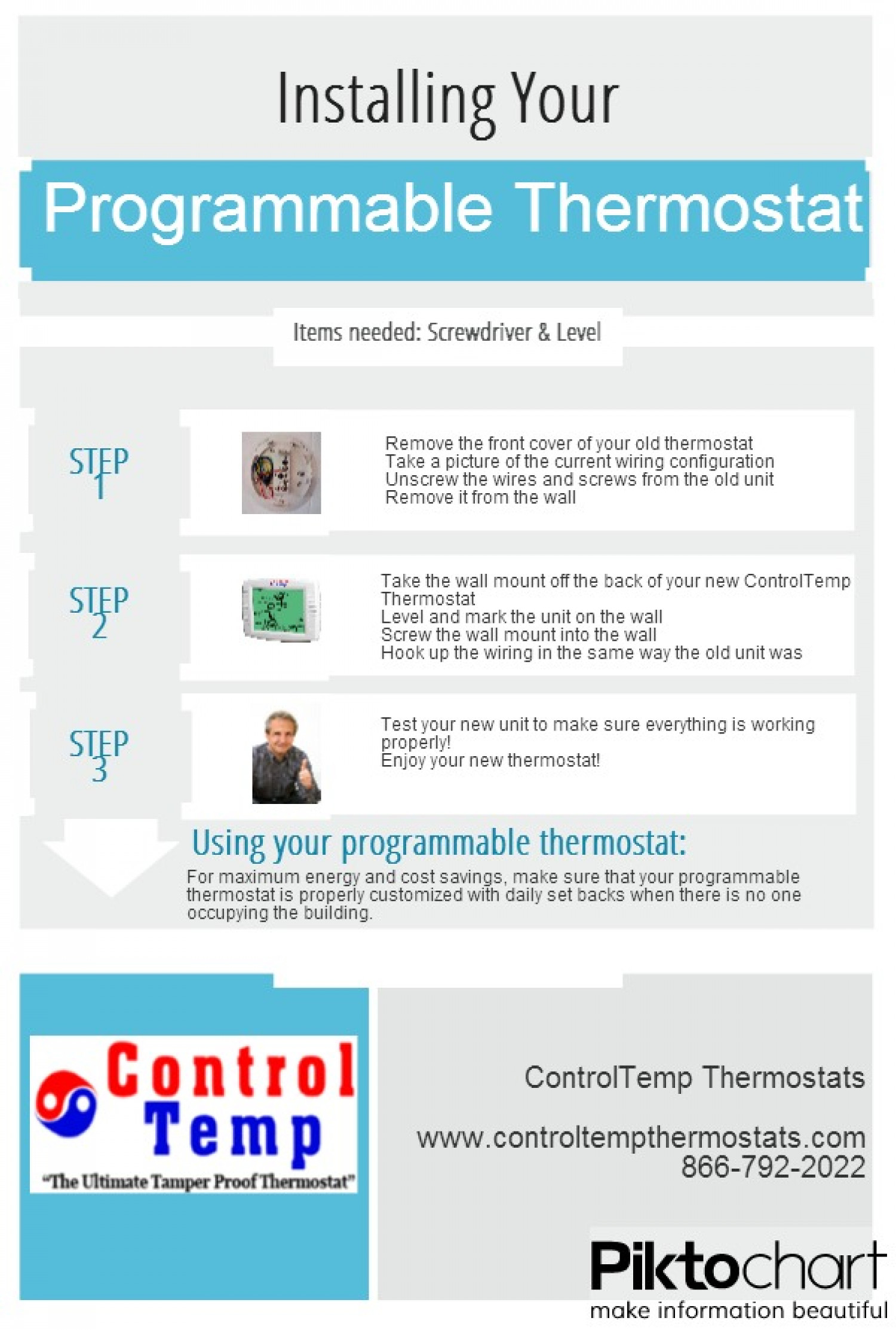 Installing a Programmable Thermostat Infographic