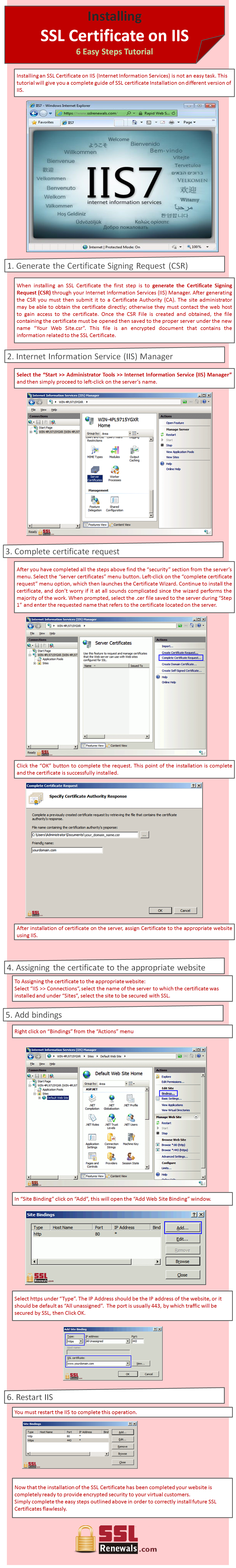 Installing an ssl certificate on iis 6 easy steps tutorial installing an ssl certificate on iis 6 easy steps tutorial infographic visual xflitez Image collections
