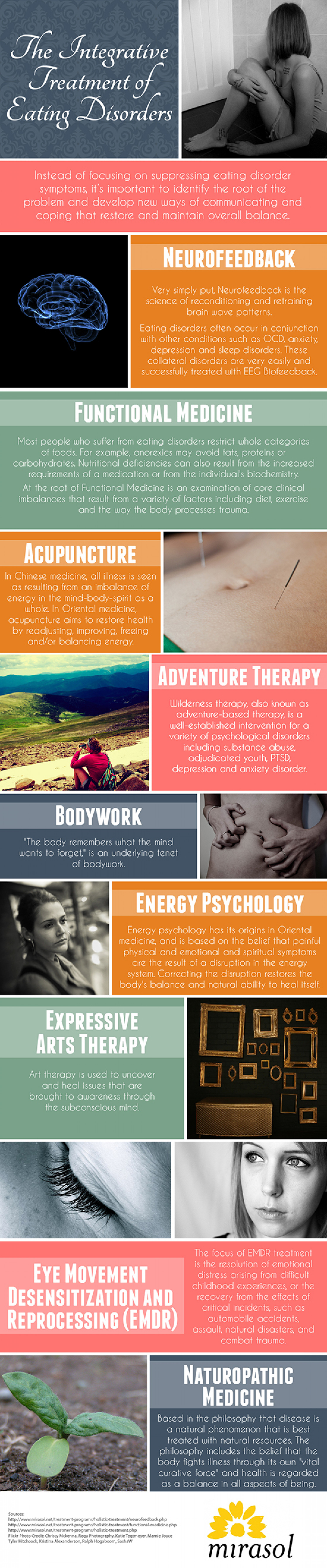 The Integrative Treatment of Eating Disorders Infographic