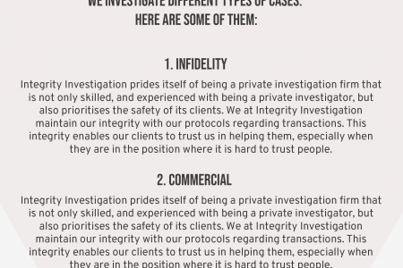 Integrity Investigation: A Private Investigation Firm You Can Trust Infographic