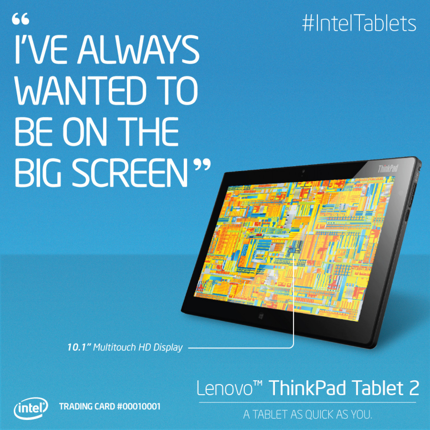 Intel Tablet Trading Card Infographic