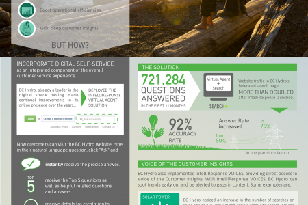 IntelliResponse Customer Case Study: BC Hydro (Leading North American Utility) Infographic