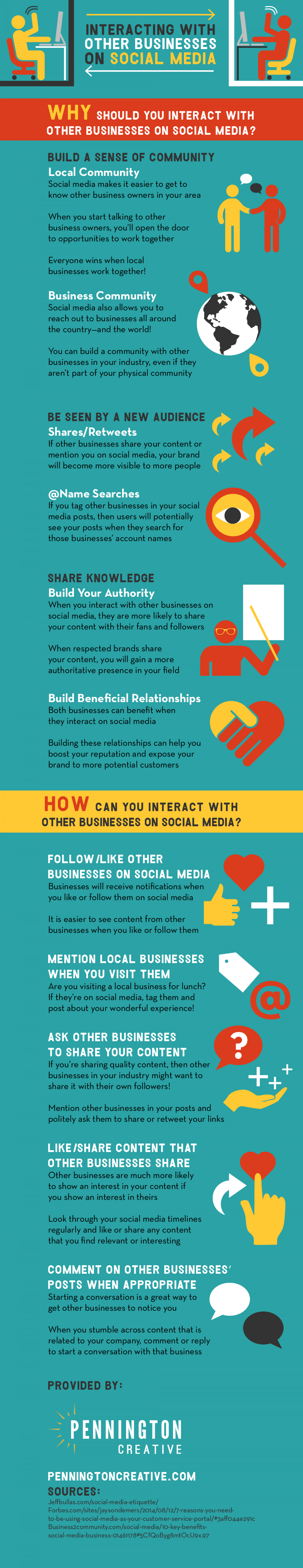 Interacting with Other Businesses on Social Media Infographic