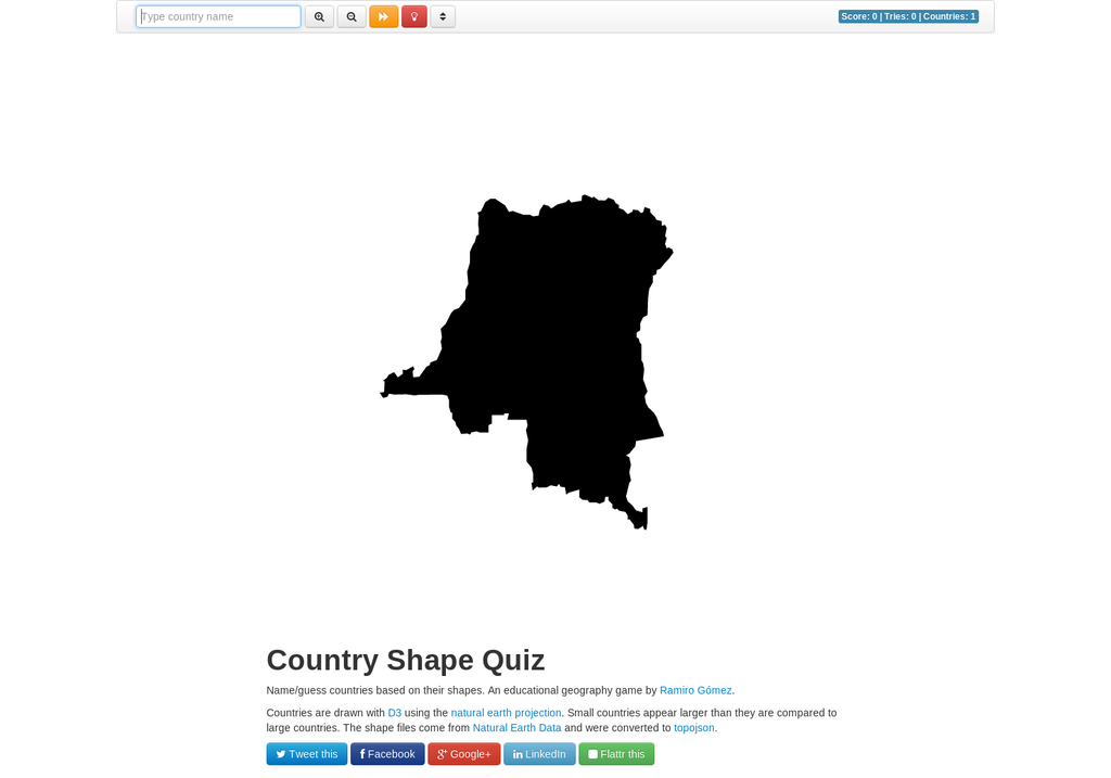 Interactive Country Shape Quiz | Visual ly