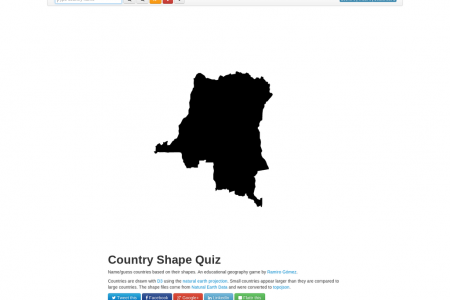 Interactive Country Shape Quiz Infographic