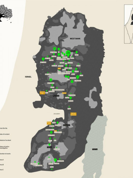 Police Investigations of Vandalization of Palestinian Trees in the West Bank Infographic