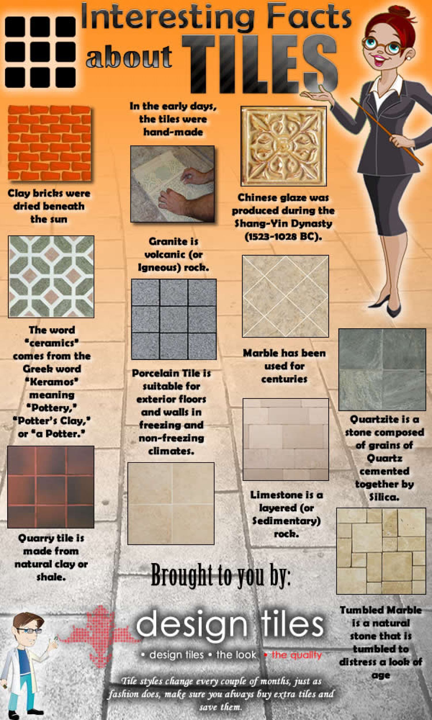 Interesting Facts About Tiles Infographic