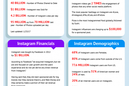 Interesting Instagram Stats and Facts Infographic