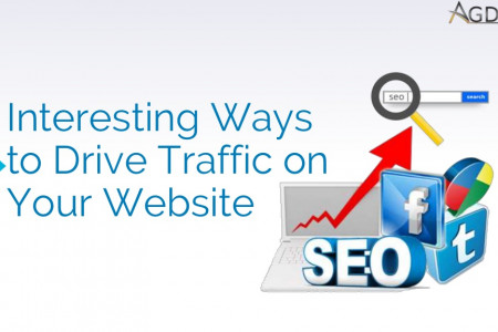 Interesting Ways to Drive Traffic on Your Website Infographic