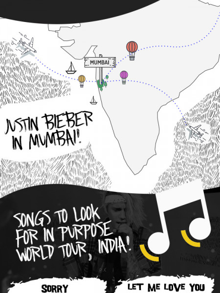 International Pop Sensation Justin Bieber To Rock India Infographic