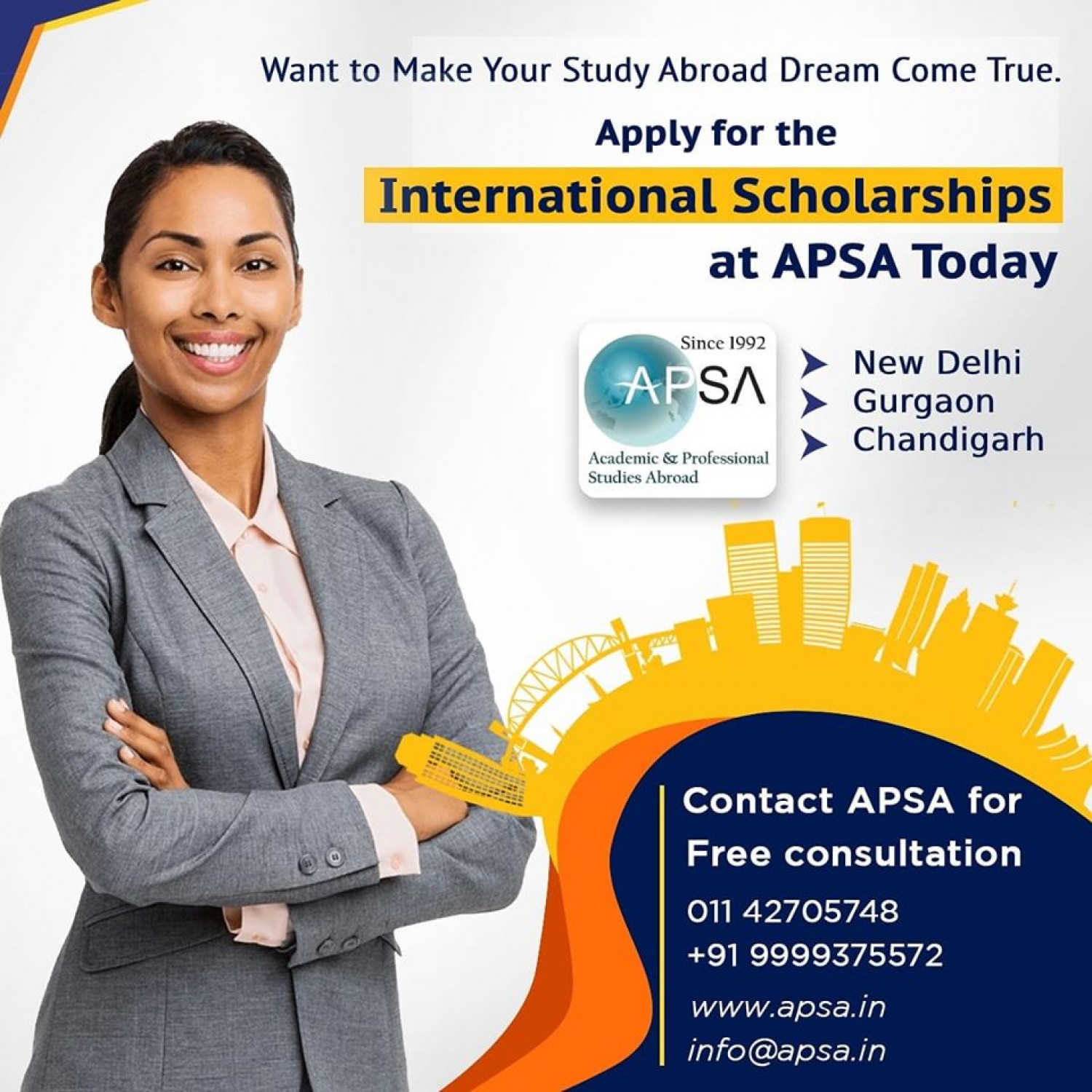 International Scholarship For Indian Students Infographic