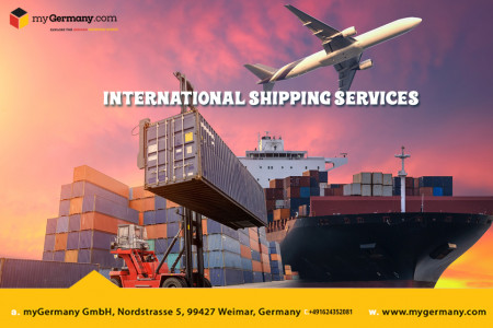 International Shipping Services Infographic