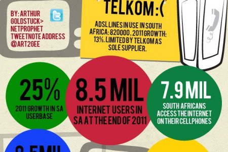 Internet Access in South Africa Infographic