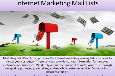 Internet Marketing Mail lists Infographic