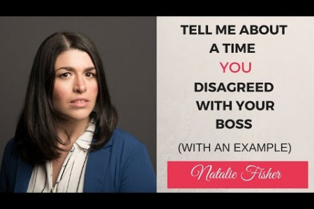 Interview Question : Tell me About a Time When you Disagreed with your Boss (With an Example) Infographic