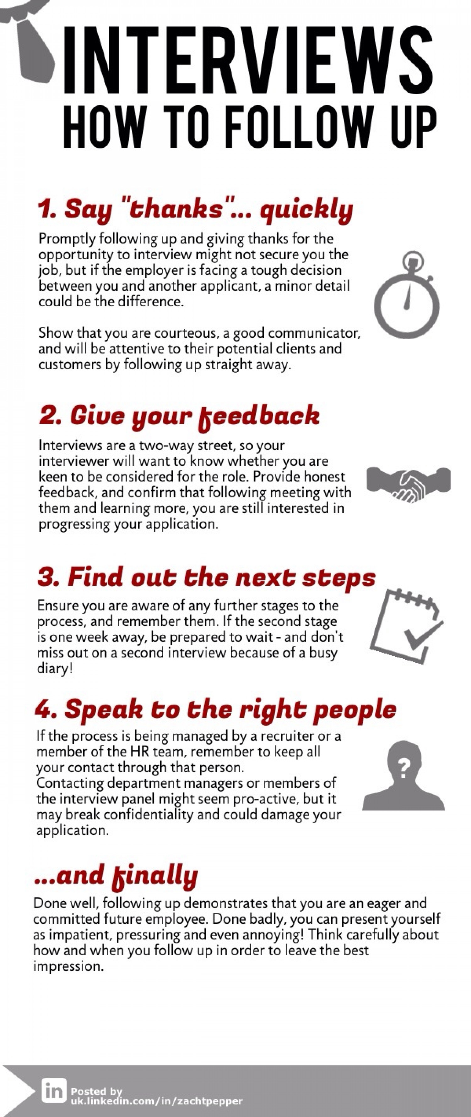 interviews how to follow up infographic
