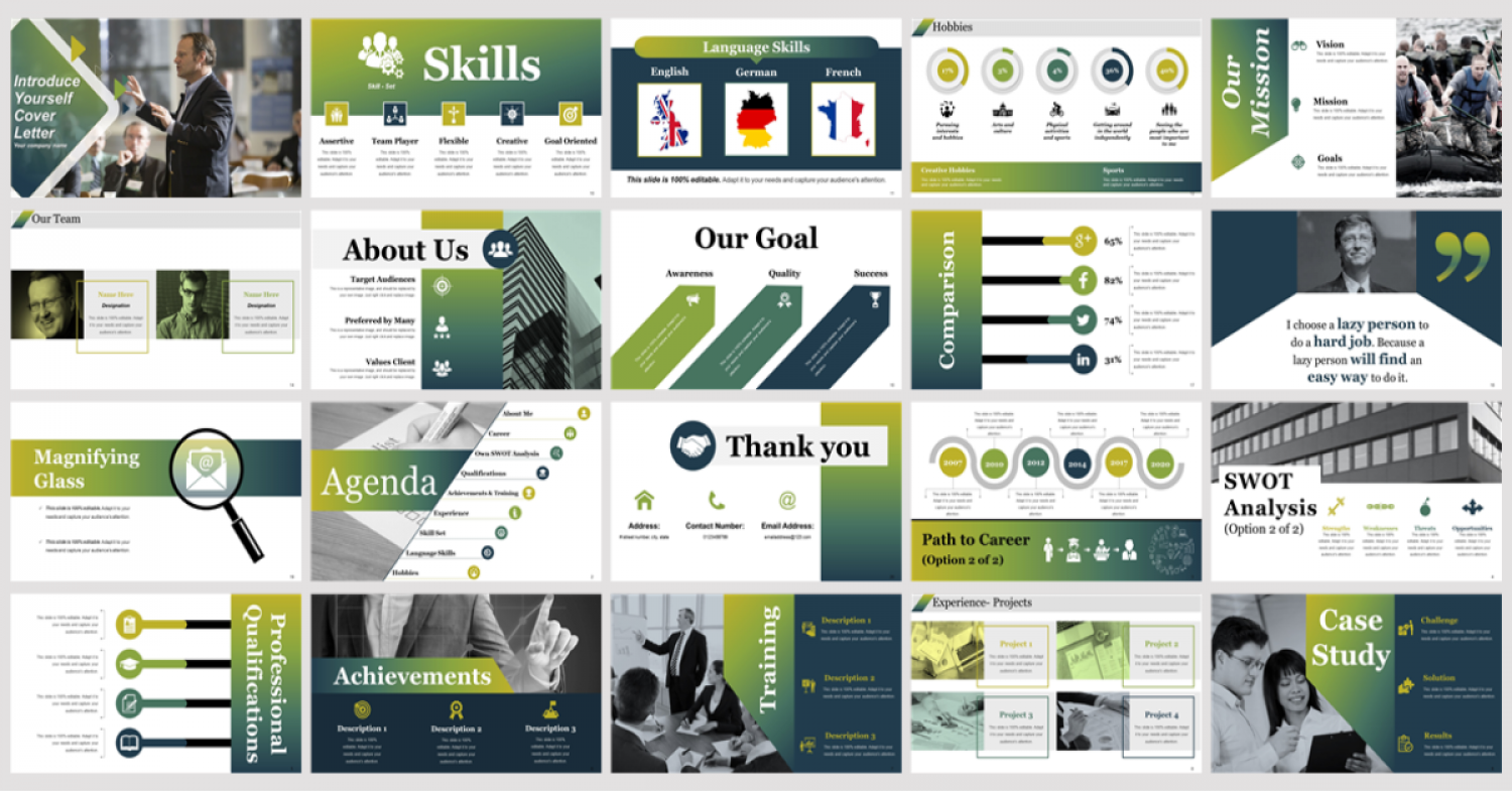 Introduce Yourself Cover Letter PowerPoint Presentation Slides Infographic