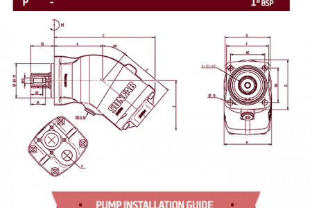 Introducing the Sunfab SAP Bent Axis Piston Pump range Infographic