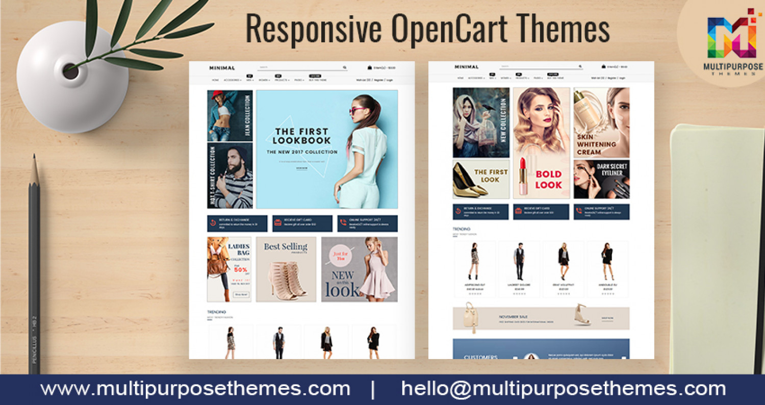 Introduction to OpenCart Templates / Opencart Themes Infographic