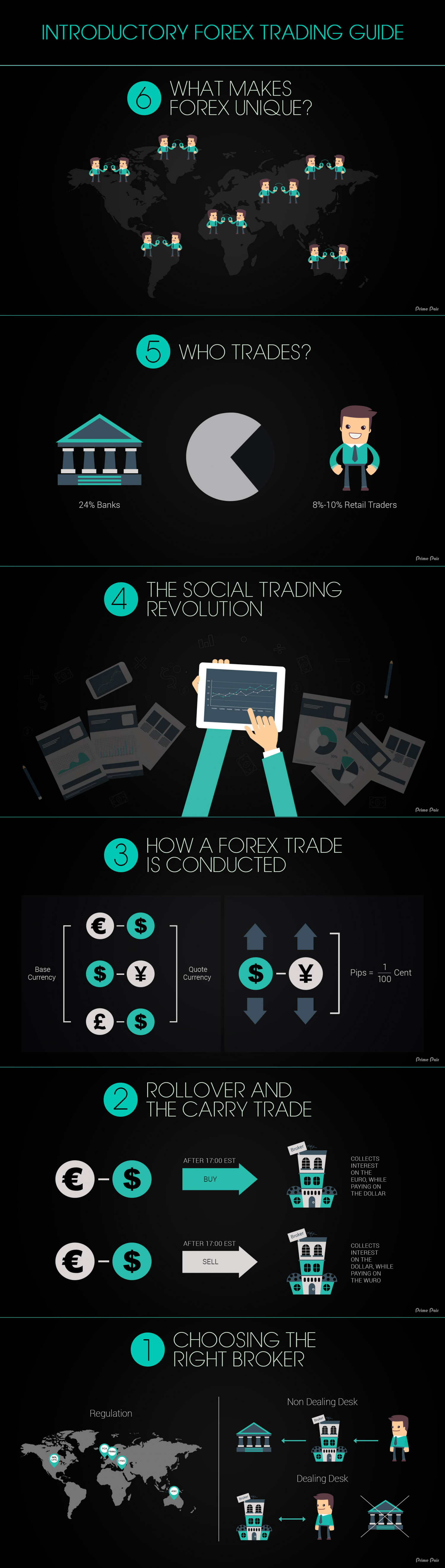 Introductory Forex Trading Guide Infographic