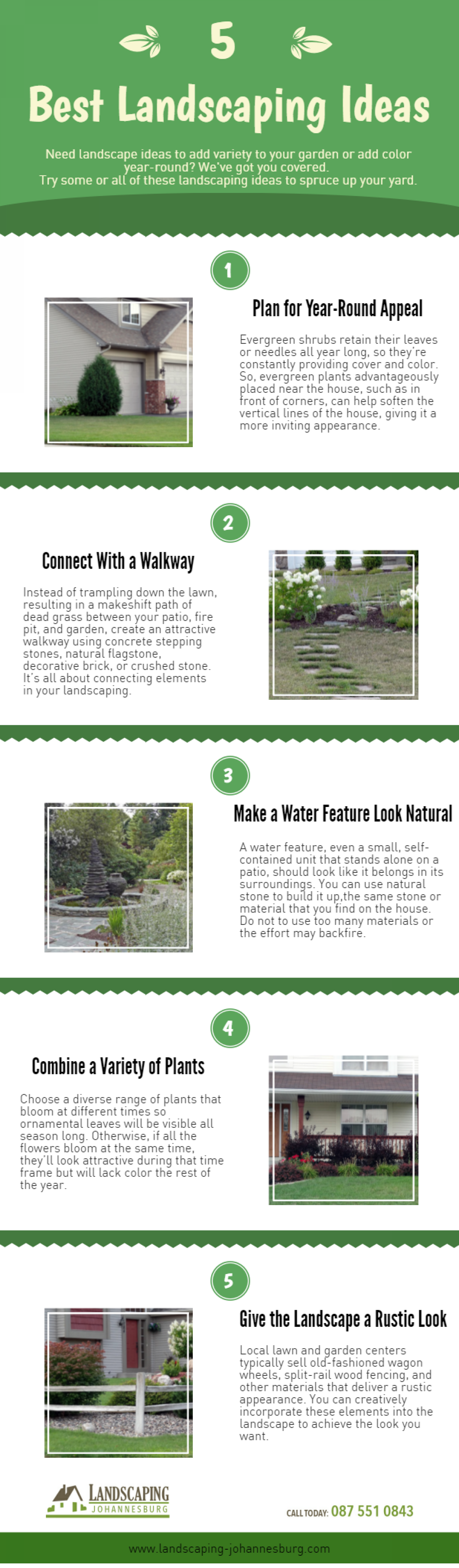 Invaluable landscaping tips Infographic