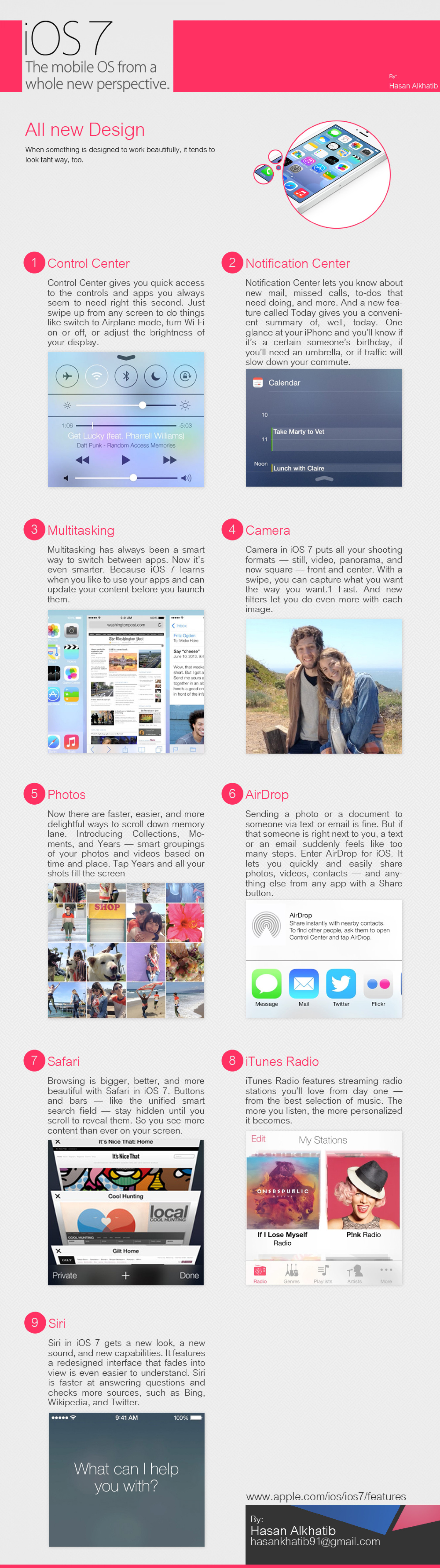 iOS 7 New Features Infographic