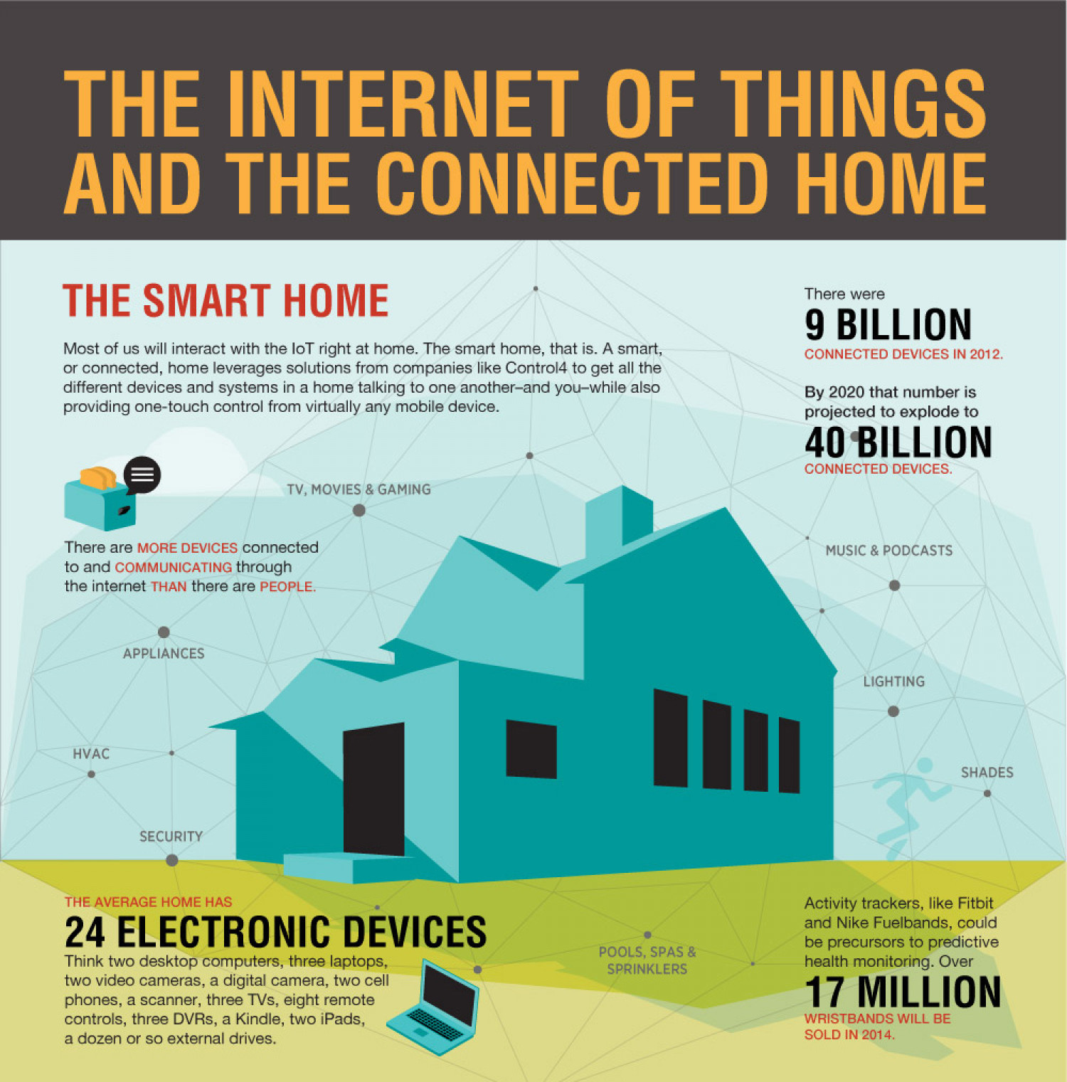 IOT and Smart Home Automations Infographic