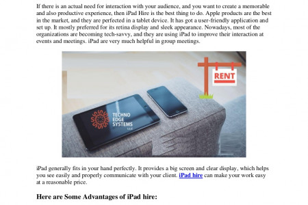 iPad Hire Dubai | Rent a iPad | iPad Mini Hire in Dubai Infographic