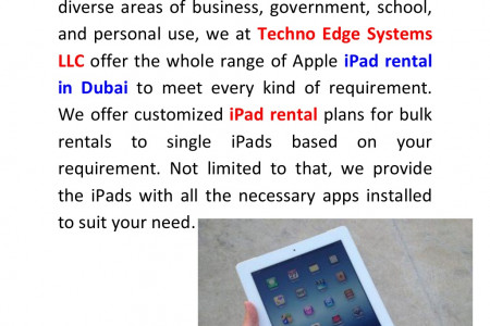 IPad Rental in Dubai| IPad Lease in Dubai Infographic