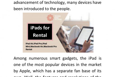 iPads for Rental in Dubai For Events Infographic