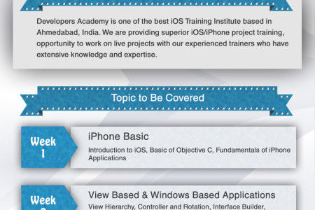 iPhone Project Training in Ahmedabad Infographic