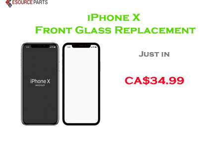 iPhone X  Front Glass Replacement Infographic