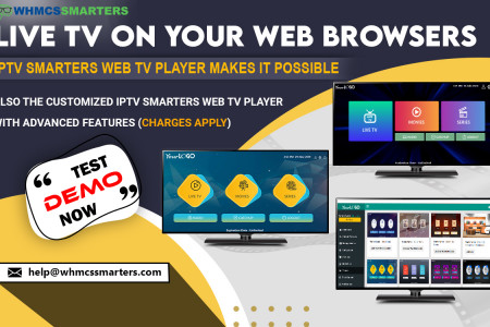 IPTV SMARTERS WEB TV PLAYER WITH NEW FUNCTIONALITY AND FEATURES Infographic