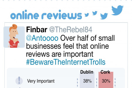 Irish SMEs & Social Media: Dublin & Cork Infographic