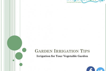 Irrigation for Your Vegetable Garden Infographic